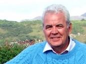Bill in Connemara in blue gansey