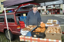 Connacht 11 - John Walsh of Letterfrack sells fresh soda bread at Clifden market.