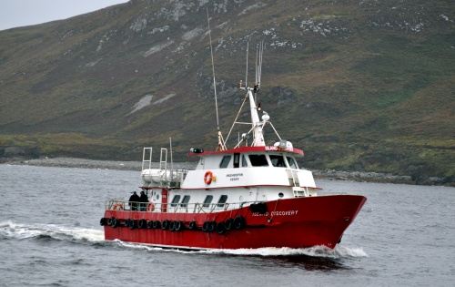 POiers - The Inishbofin ferry heading for Cleggan Pier.