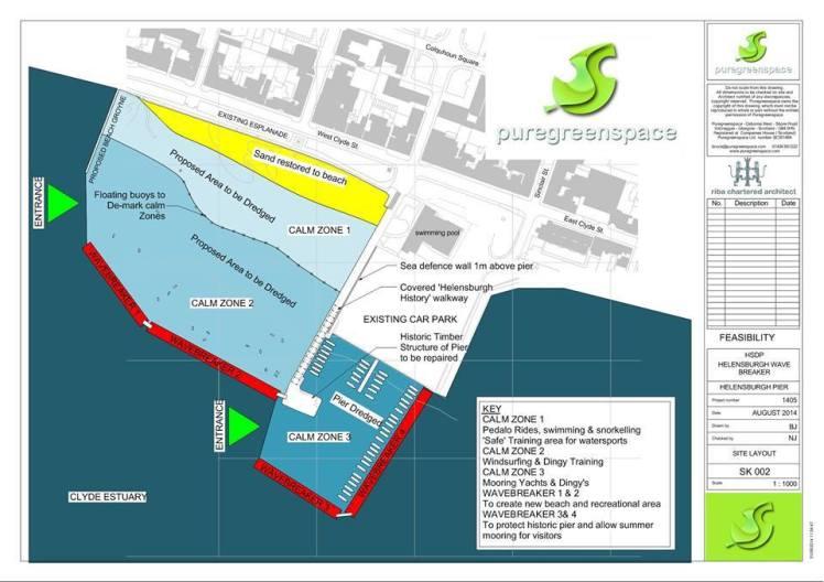 Helensburgh seafront plan