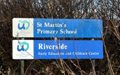 Martin St school sign