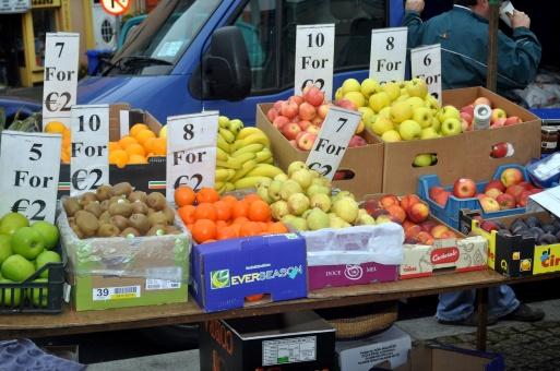 Fresh fruit at Clifden street market