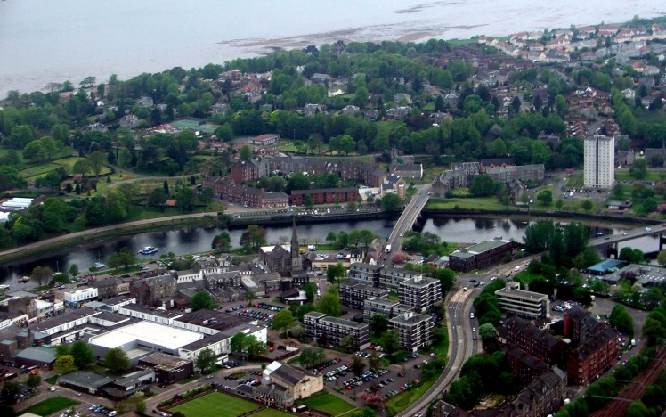 Dumbarton from the air
