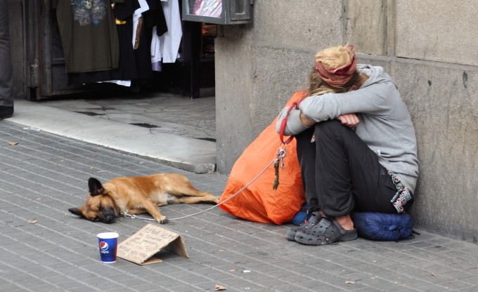 Beggar in Barcelona