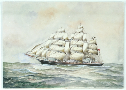 Cutty Sark, J.E.Cooper © National Maritime Museum, London