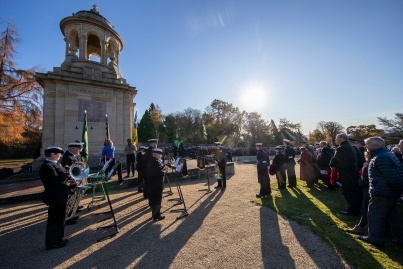 Today 10 November 2019, in Helensburgh, Royal Navy Sailors and Submariners from nearby HM Naval Base Clyde joined local residents and dignitaries at Hermitage Park for this year's Remembrance ceremony. Events began and Hermitage Primary School, led by the Royal Navy guard and HMS Neptune Volunteer Band. The participants marched to the park's Garden of Remembrance. Taking the salute outside Victoria Halls was Naval Base Commander Clyde, Commodore Donald Doull, who also laid a wreath outside the town's cenotaph. MEMBERS of the Royal Navy attended Remembrance Services around Scotland today to honour those who made the ultimate sacrifice in defence of their country.