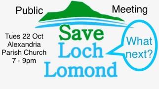 Save Loch Lomond public meeting ad