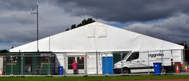 aggreko at media tent for Papal Visit