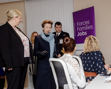 Pictured: HRH The Princess Royal meets Naval spouses in the new IT Room. HER Royal Highness The Princess Royal opened a renovated facility at the heart of Helensburgh in Argyll and Bute today (January 24). The Drumfork Community Centre in Helensburgh's Churchill Square has undergone £2M of work, with much of the funding coming from the Royal Navy and Royal Marines Charity (RNRMC). The new centre will be a hub for military personnel, their families and members of the wider community.