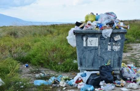 litter overflowing from bins
