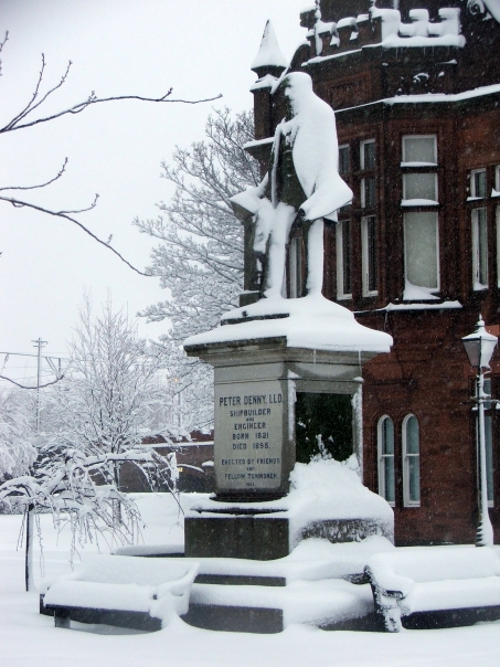 SNOW - PETER DENNY STATUE