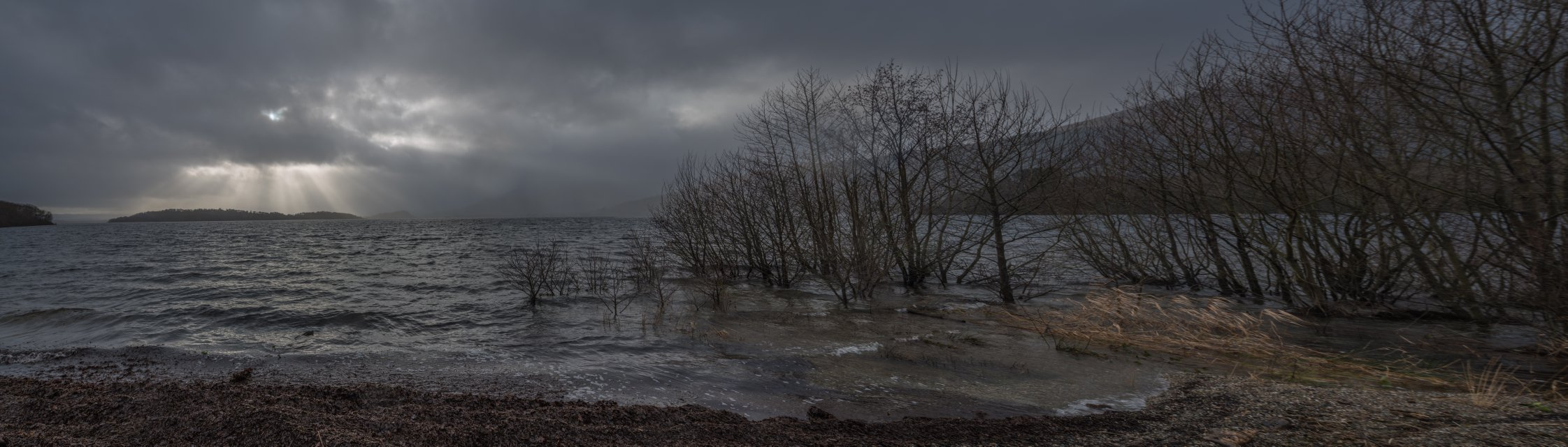 STORMY WEATHER OUT THERE ON LOCH LOMOND