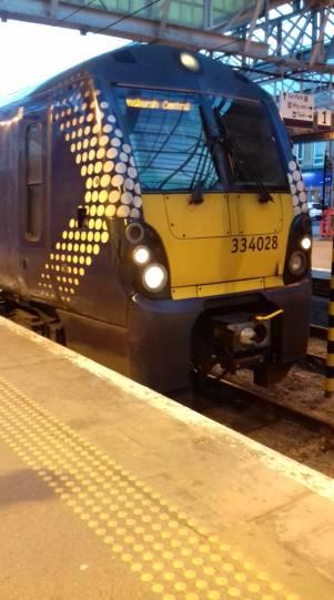 Train heading for Helensburgh