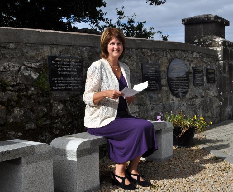 BURTON Joan at peace park, Castlebar