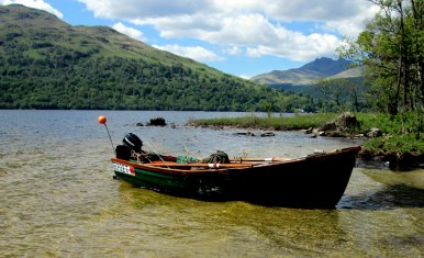 Dick's boat on Loch Lomond