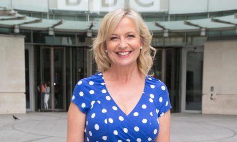 F10731 Carol Kirkwood pictured leaving the BBC Studios Featuring: Carol Kirkwood Where: London, United Kingdom When: 23 Jun 2015