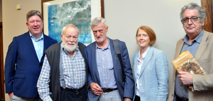 POETRY - the famous five - Ben Keatinge, Michael Longley, Lucy Collins, Bernard O'Donohue and Gerard Dawe.