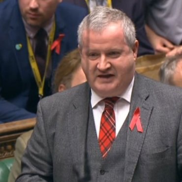 SNP Westminster leader Ian Blackford speaks during Prime Minister's Questions in the House of Commons, London.