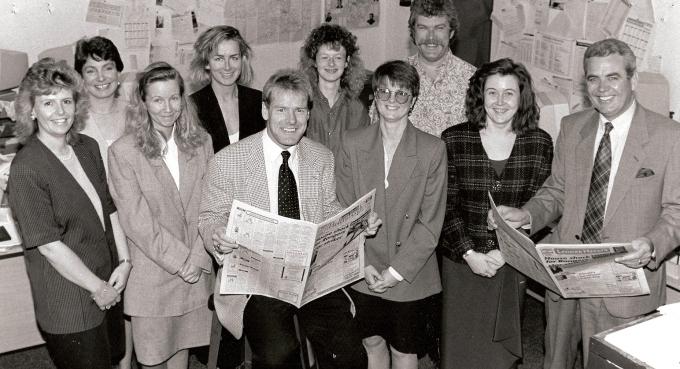 Lennox Herald staff with Murdo MacLeod