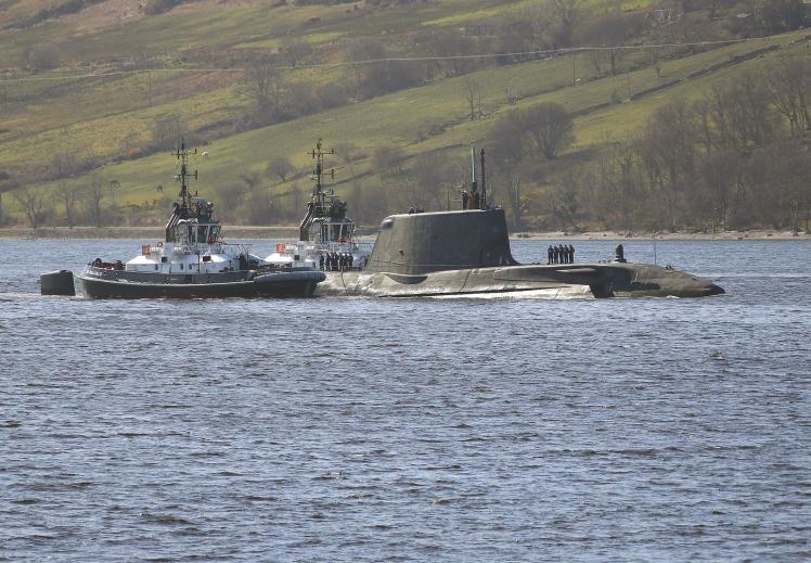 HMS AUDACIOUS ARRIVES AT CLYDE HOME