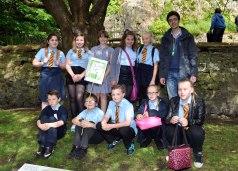 Columba 19 St Michael's PS pupils and student teacher