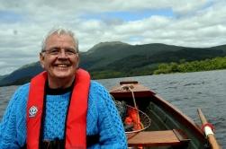 Cyclists - Bill Heaney on Loch Lomond