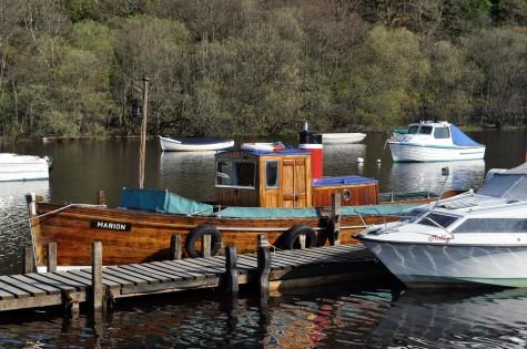Loch Lomond mailboat Marion tied up at Balmaha