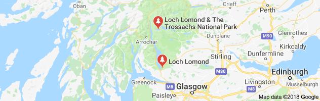 Loch Lomond Natyional Park map