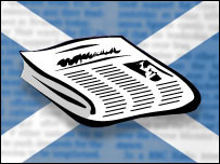NEWSPAPERS & SALTIRE LOGO