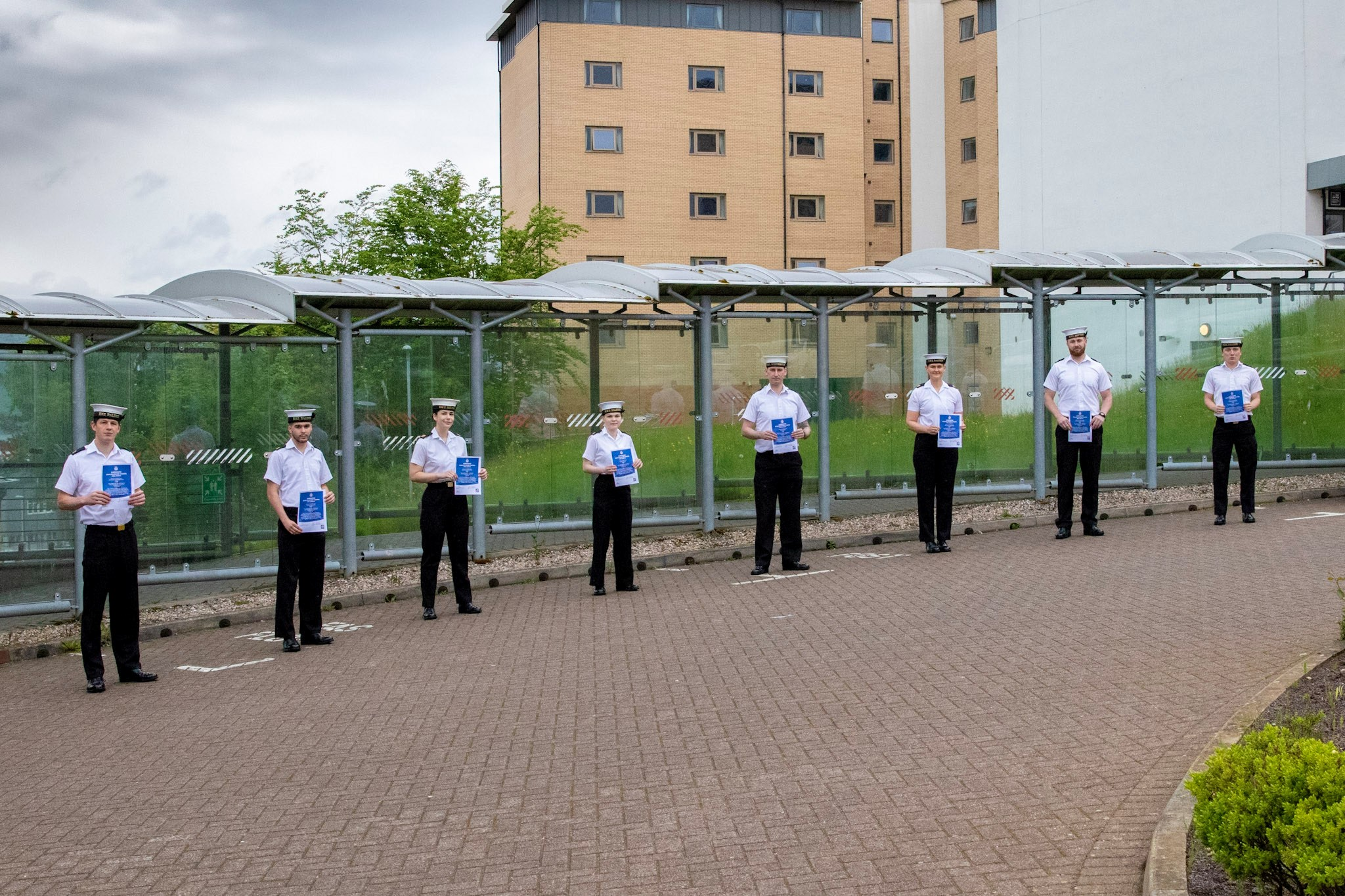 TRAINEE SUBMARINERS' PASSING-OUT PARADE AT CLYDE NAVAL BASE