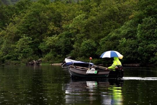 Trolling in the rain on Loch Lomond