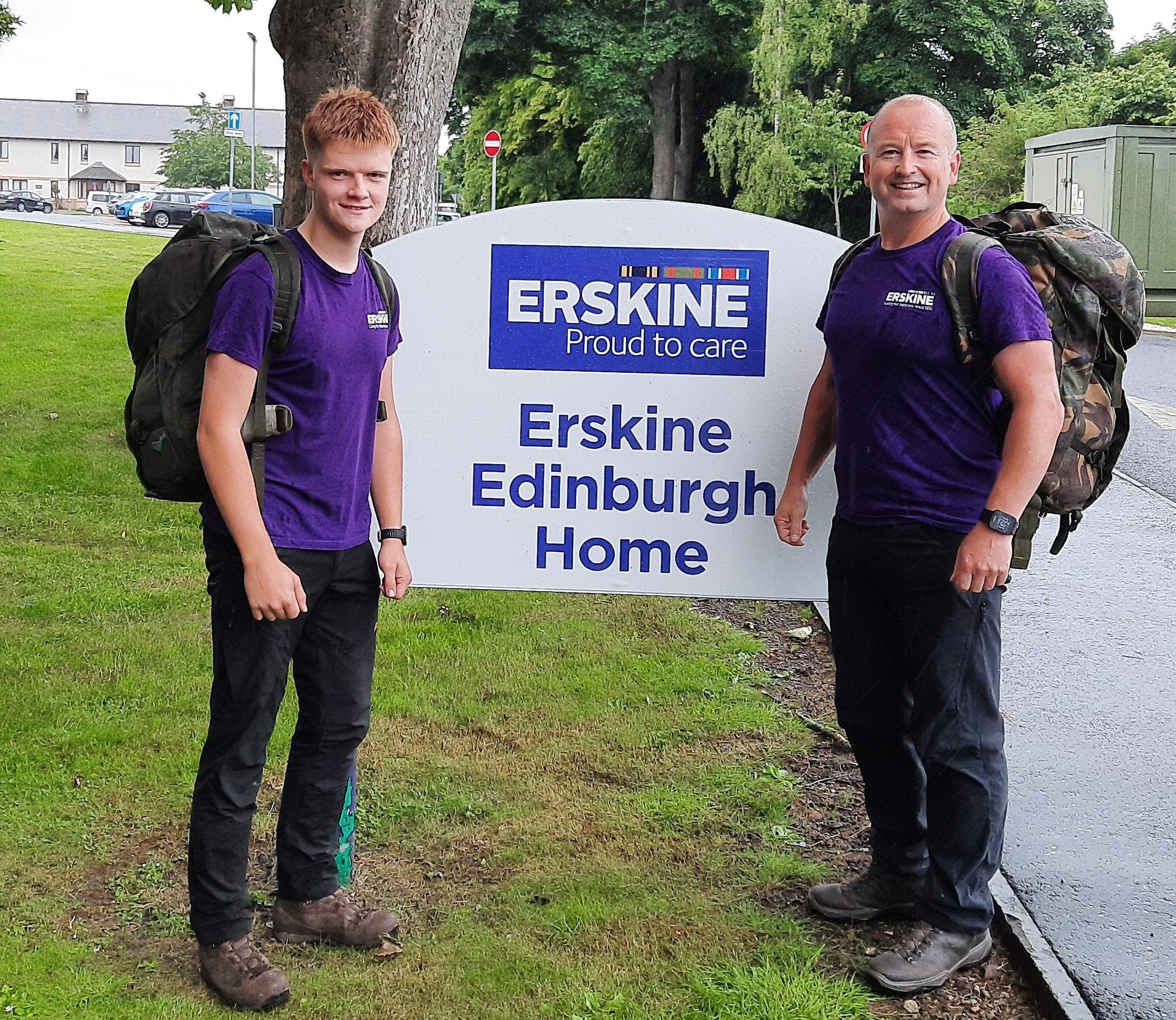 WALKING 100 MILES FOR ERSKINE VETERANS