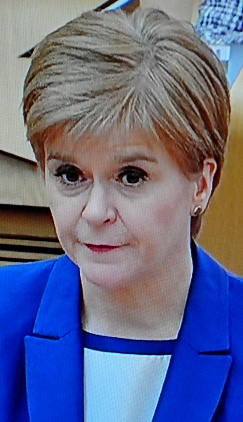 HAIR, HAIR. RAISE YOUR GLASS TO NICOLA AND PRAY FOR SUCCESSFUL LOCKDOWN LIFTING